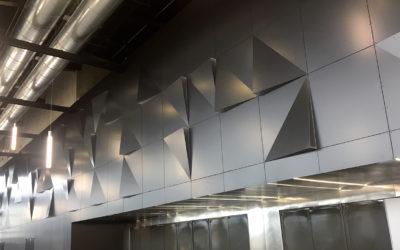 COBAREC vous fait découvrir en avant-première le bardage intérieur du Parc des Expositions.